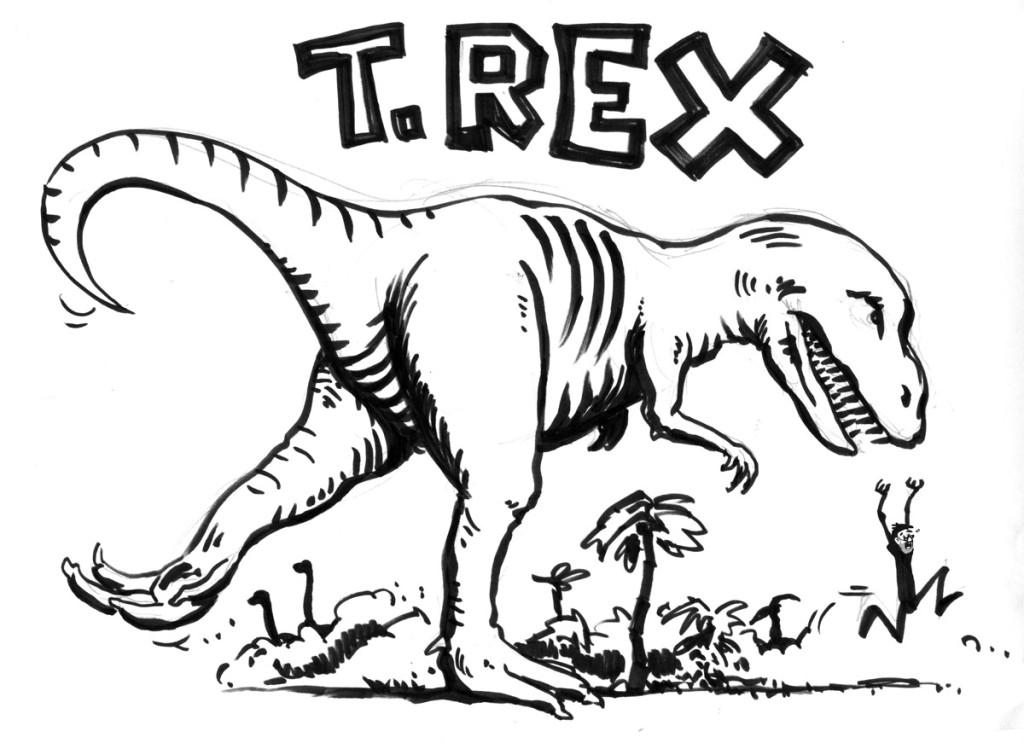 T. Rex rules the breakfast