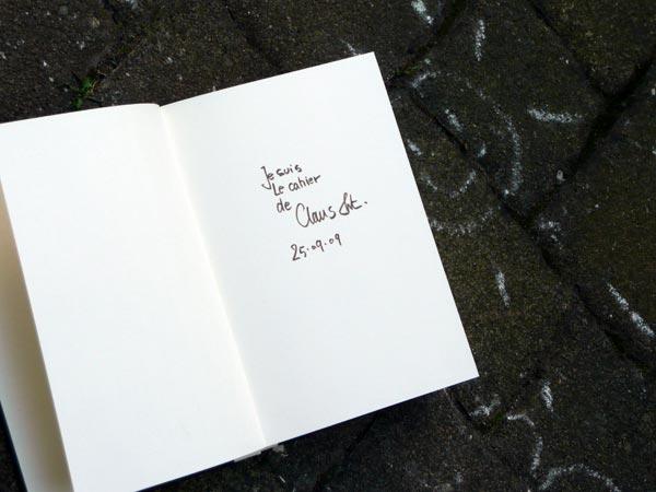 Skizzebuch 25·09·09
