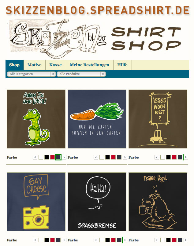skizzenblog spreadshirt shop