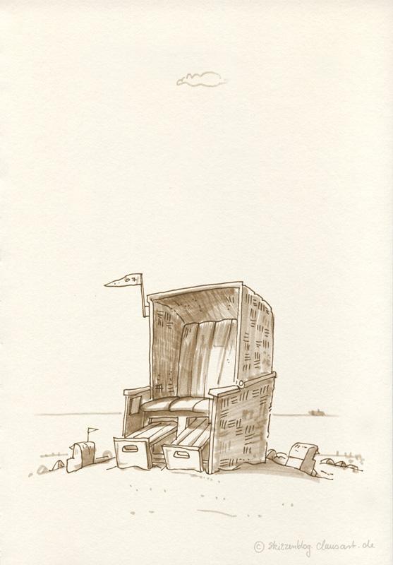 Strandkorb comic  Gestühl – Skizzenblog