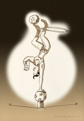 Illustrationfriday: ACROBAT