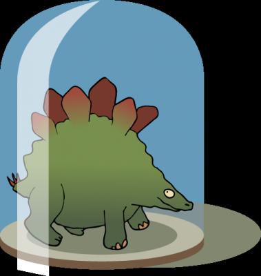 Stegosaurus im Glas