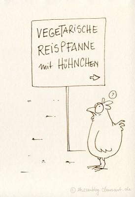 Huhn ist ja auch fast…
