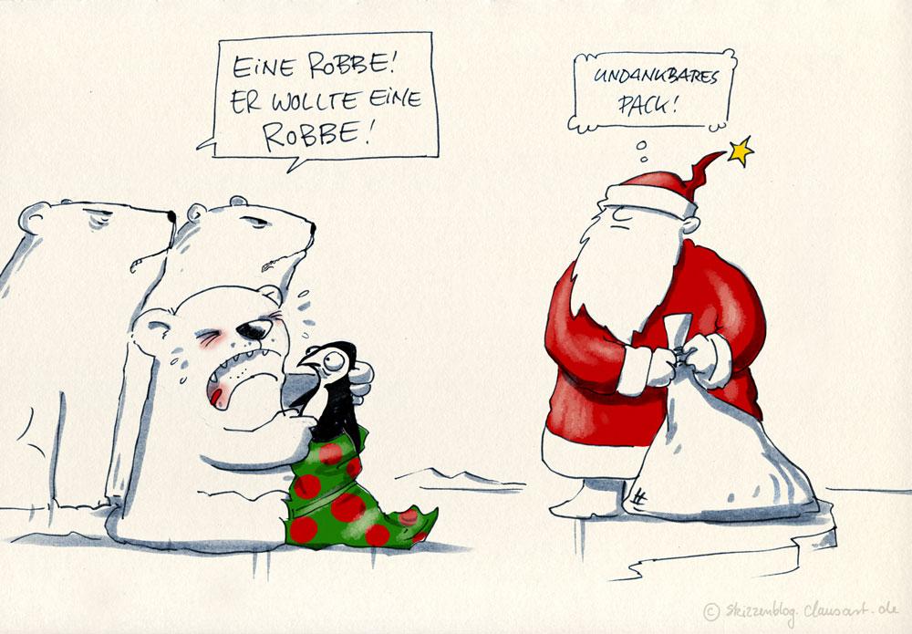 Pinguin, Robbe… soll sich einer merken, sowas...