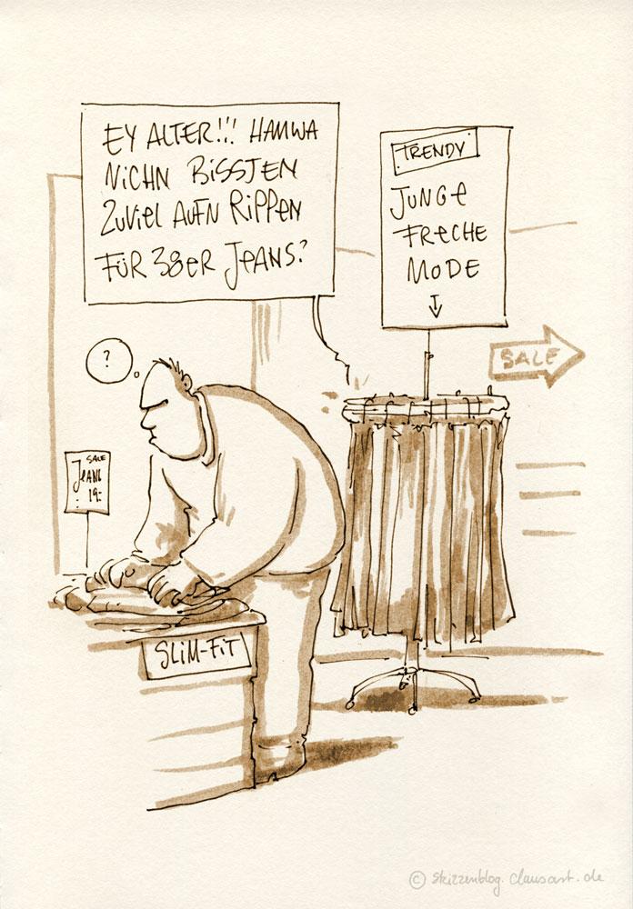 und überhaupt… Pulli in Hose ohne Gürtel geht ja wohl gar nicht!