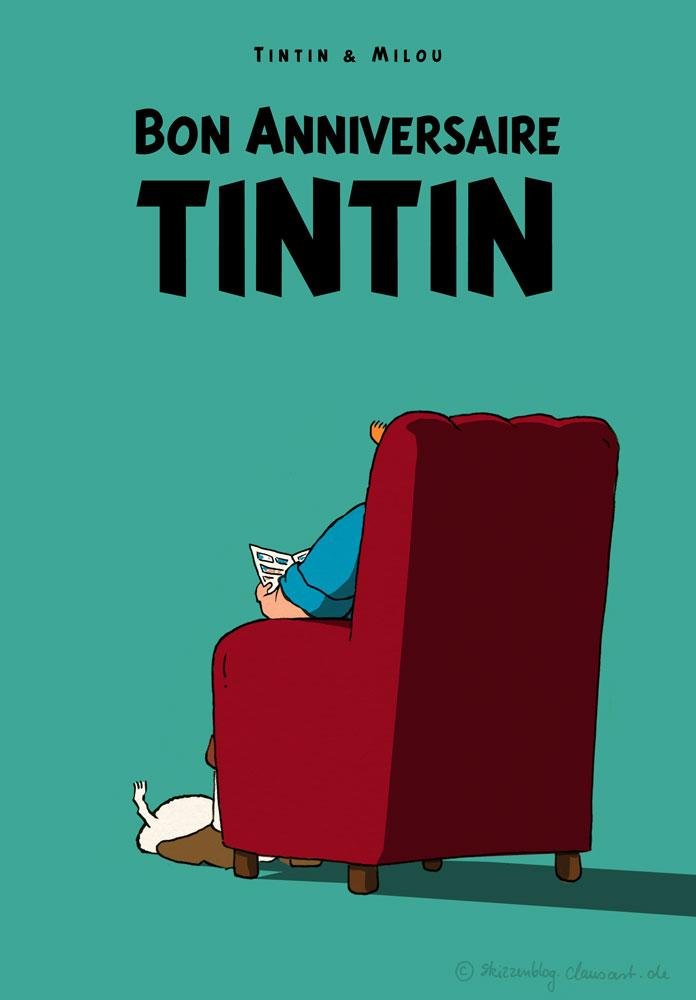 10.01.1929 erscheint zum ersten Mal Tintin im Petit Vingtième.