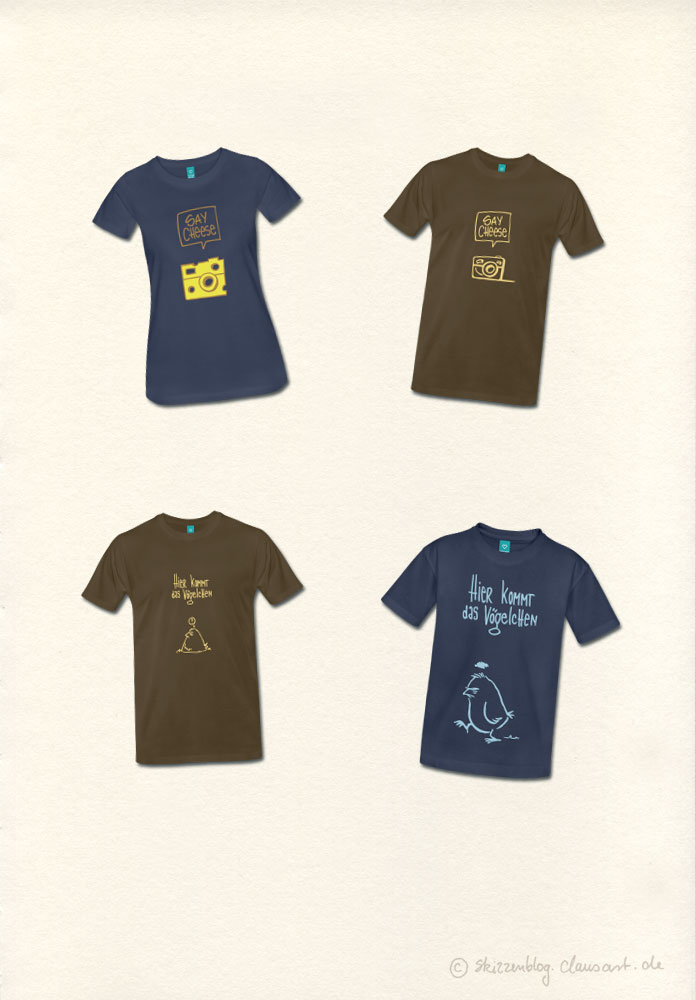 und auf T-Shirt
