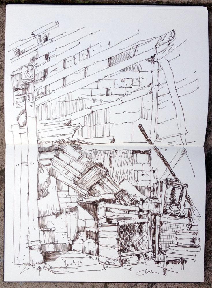 Schuppenvisite im Skizzenbüchlein