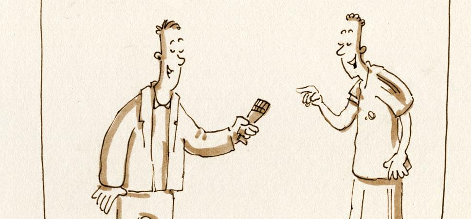 Das freundliche Interview