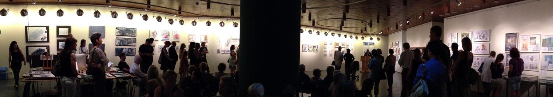 Zuschauer bei Rede