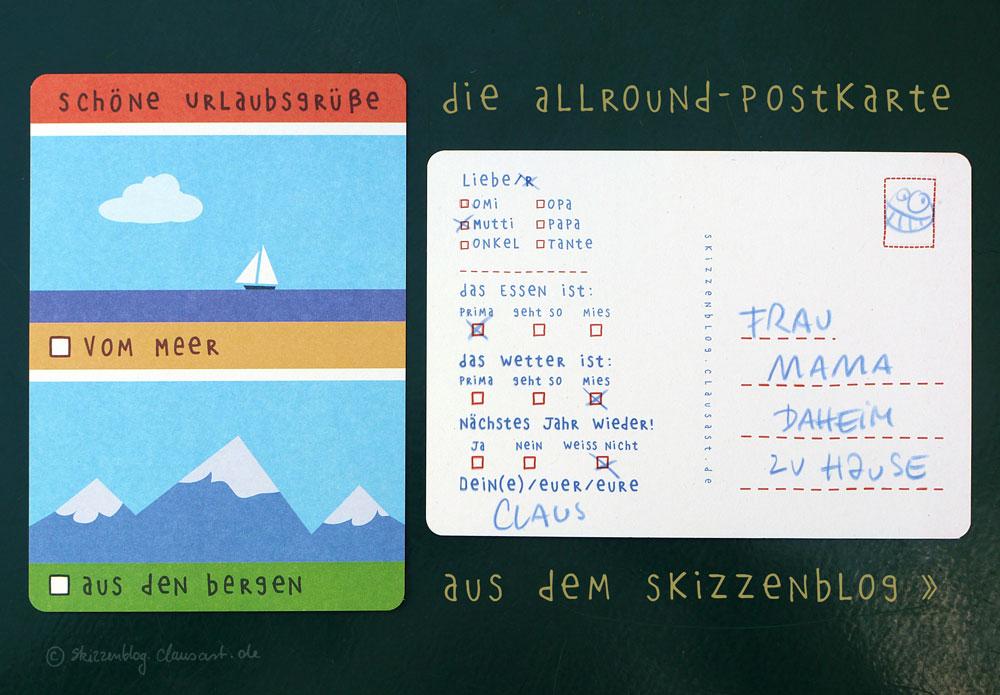 Die Allroundpostkarte vom Meer und aus den Bergen!