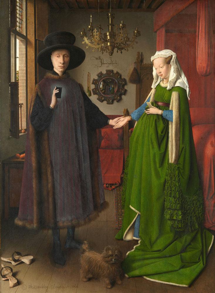 Jan van Eyck - Das Arnolfini Selfie
