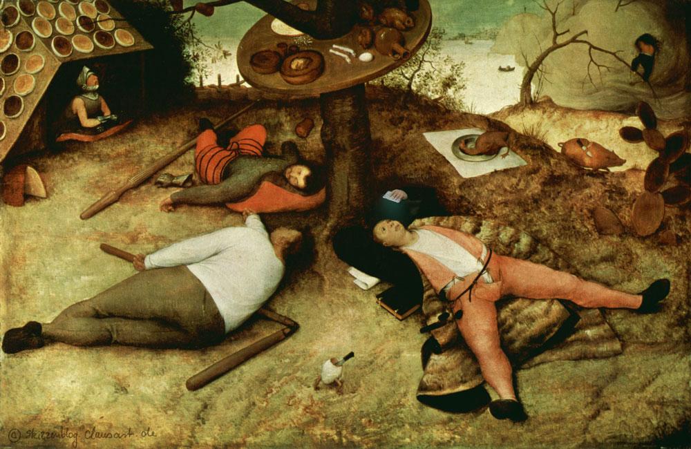 Pieter Brueghel der Ältere - Schlaraffenselfie