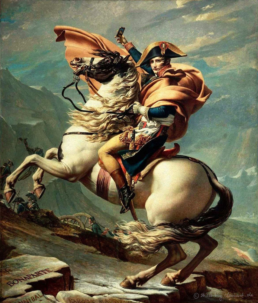 Jacques-Louis David - Napoleon Selfie in den Alpen