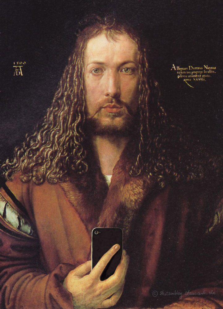 Albrecht Dürer - Selfie im Pelzrock