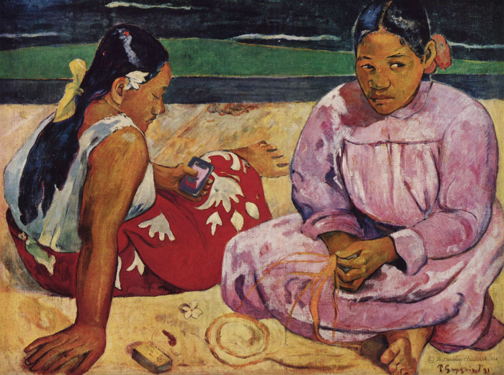 Paul Gauguin - Selfie am Strand