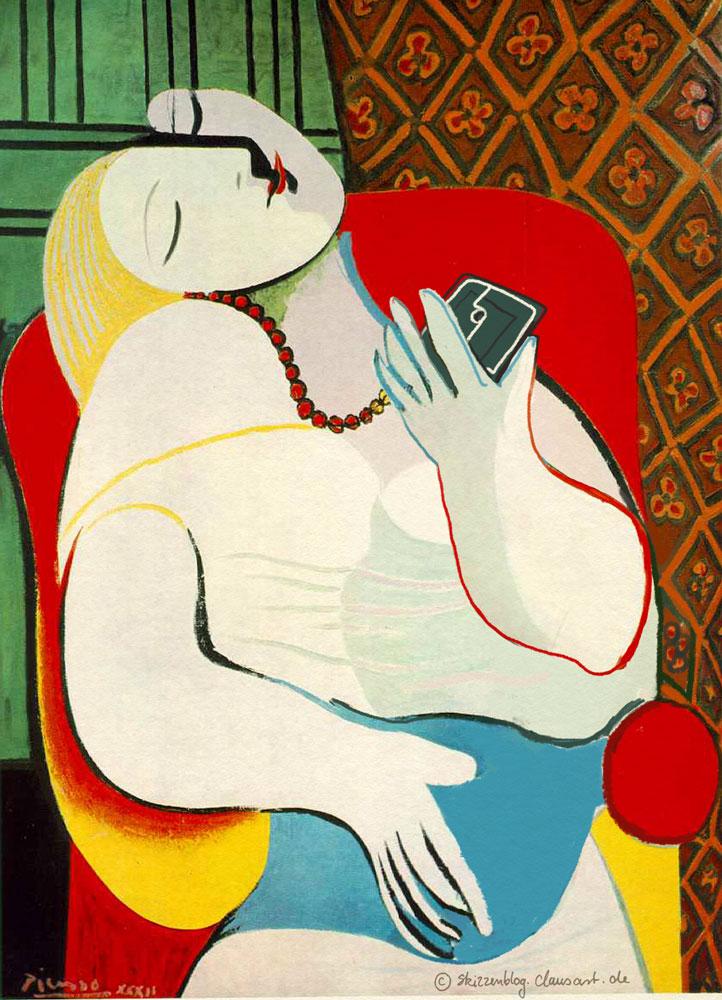 Pablo Picasso - La rêve Selfie