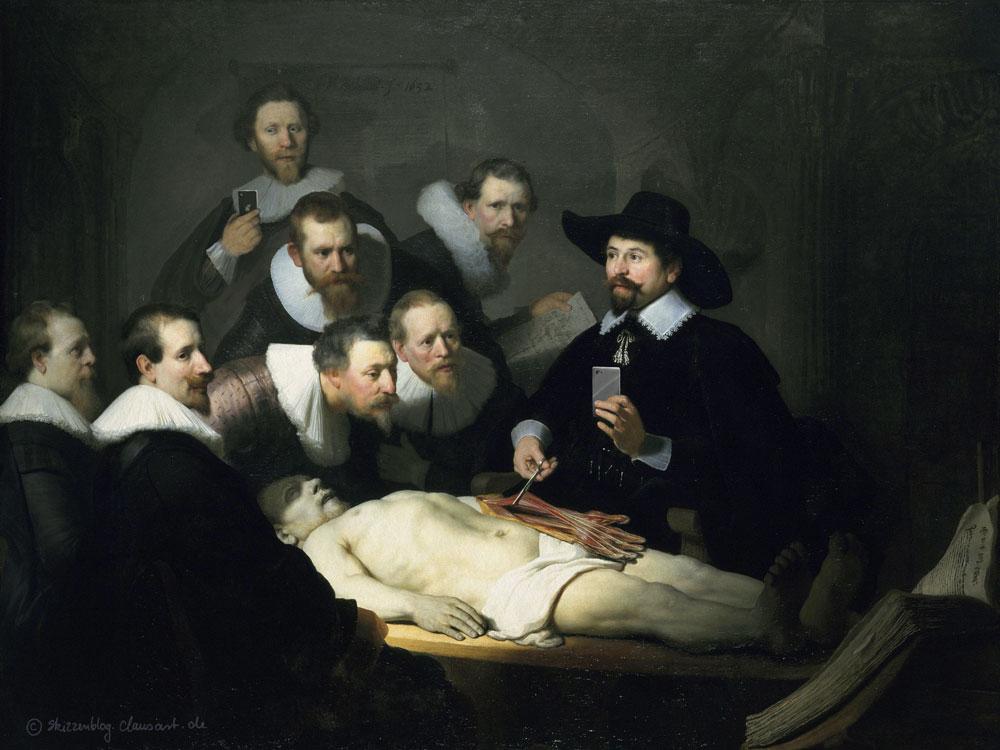 Rembrandt van Rijn -  Das Selfie des Dr. Tulp