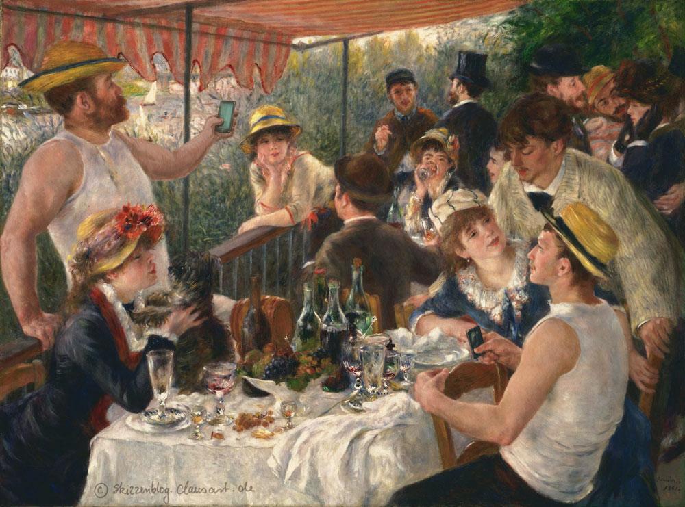 Pierre-Auguste Renoir - Das Selfie der Ruderer