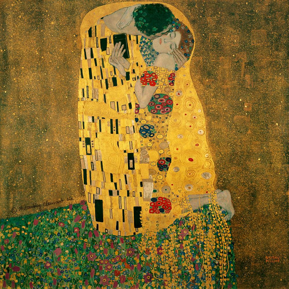 Gustav Klimt - Der Selfiekuss
