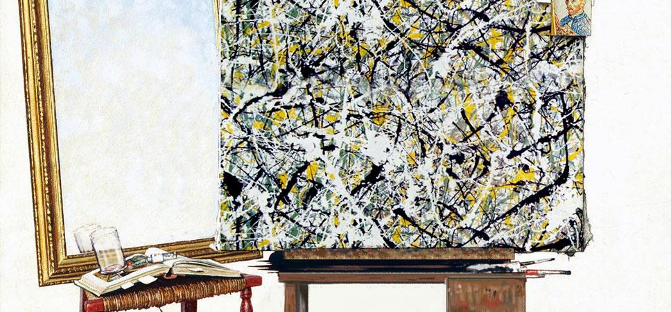Rockwell meets Pollock