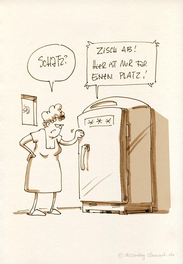 Kauf halt das nächste mal einen begehbaren Kühlschrank!