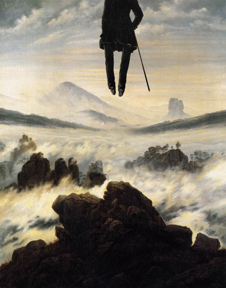 Die Ankunft des Wanderers über dem Nebelmeer