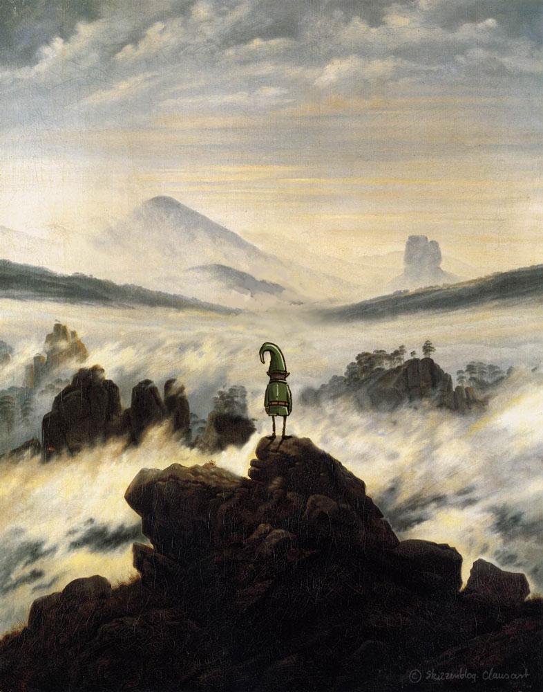 … wandert kurz noch über dem Nebelmeer