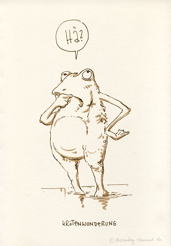 ich glaub ich hab einen Frosch im Hals...