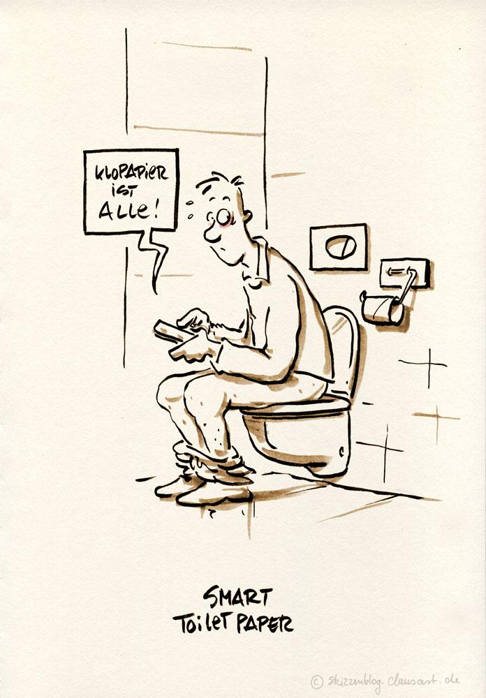nicht vergessen: toilettenpapier nachlegen!