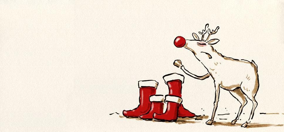 Ich weiss schon, warum du nicht Rudolf, den rotnsigen Tausenfüßler genommen hast, alter Knauser!