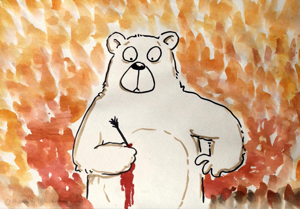 Mythos: Das Blut des geschossenen Bären färbt die Herbstblätter rot.