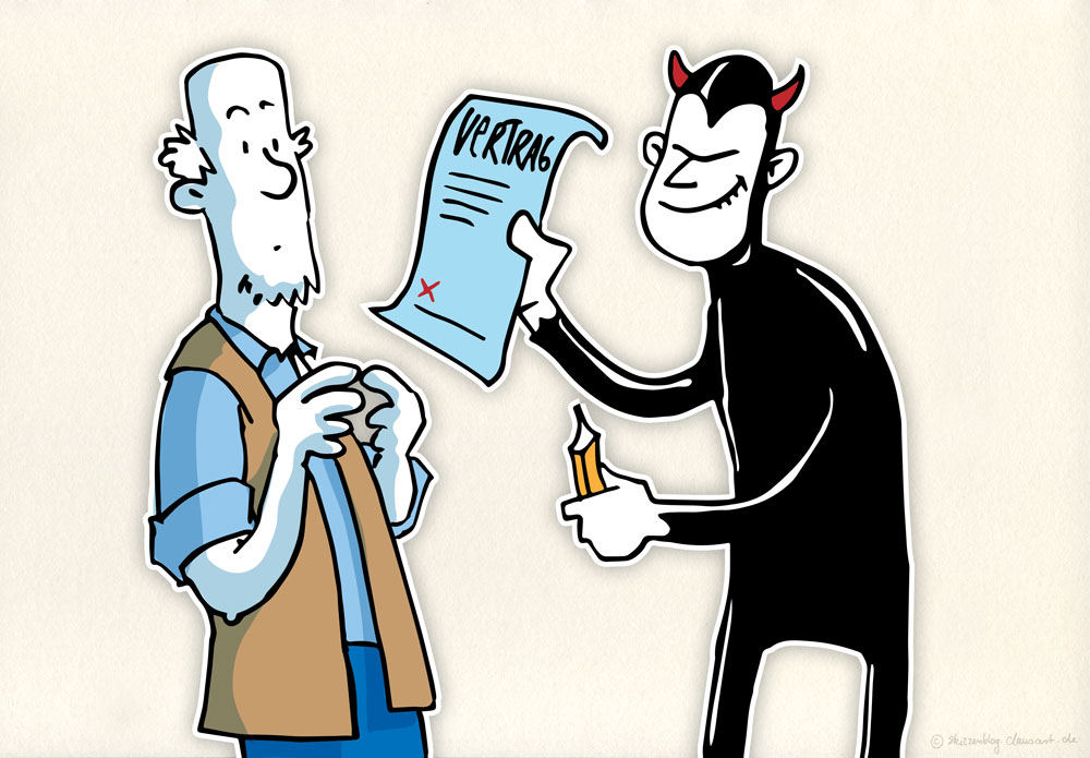Mephisto und Faust