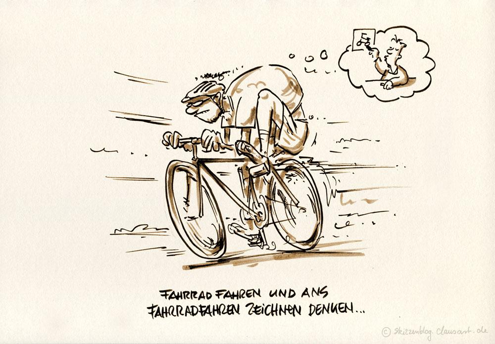 …ist anders als fahrradfahren zeichnen und ans fahrradfahren denken.