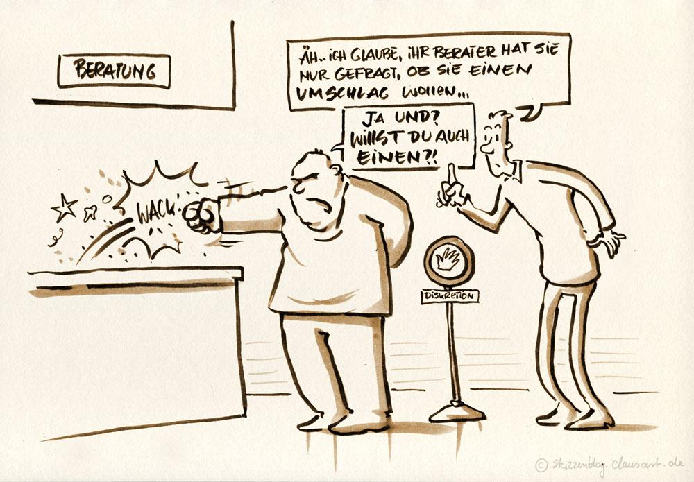 Ein Kuvert! Ah der Feine Herr spricht auch noch französisch!