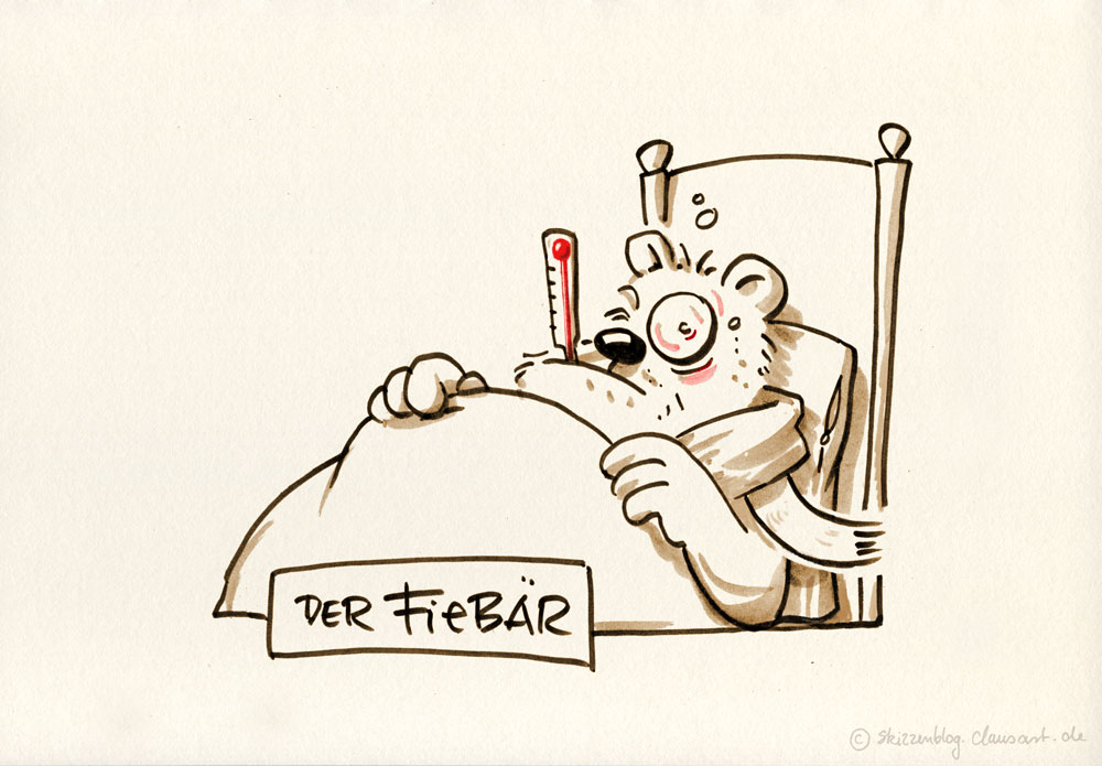 "#zurufcartoon ""Fieber"" thanx @KEERL_IT"
