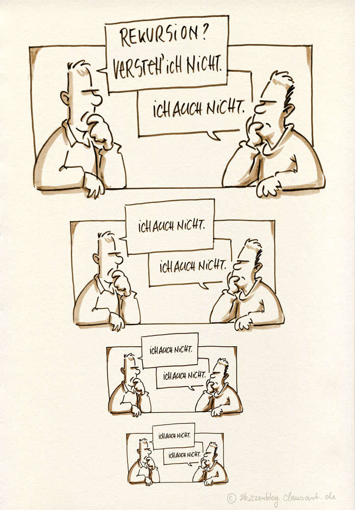 "#zururfcartoon ""Rekursion"" thanx @koppts"