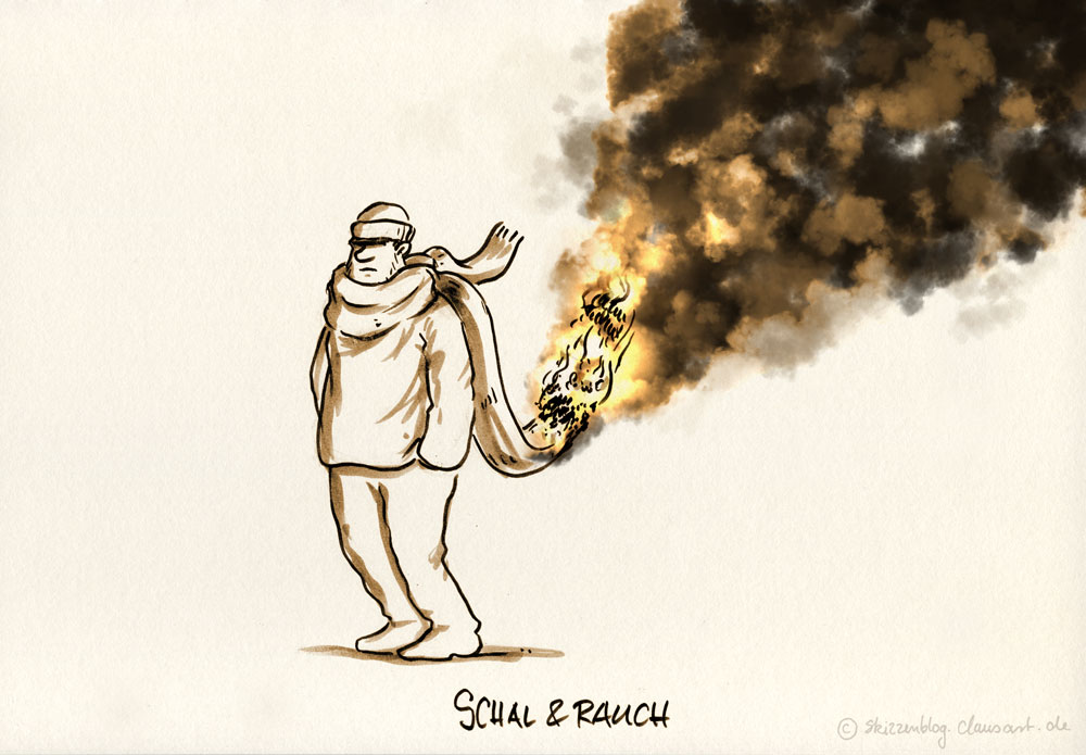 "#zurufcartoon ""Schal & Rauch"" thanx @doktorpeh"