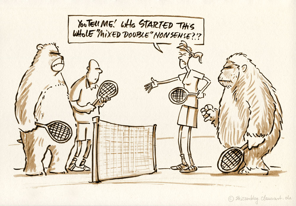 ever tried to argue about tennis with a bear?