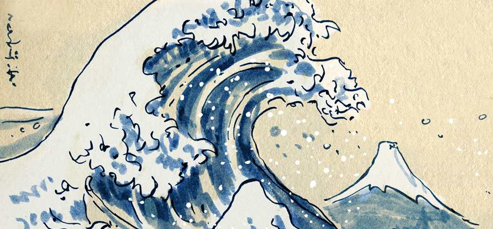 Hokusai wasn´t known for his patience...