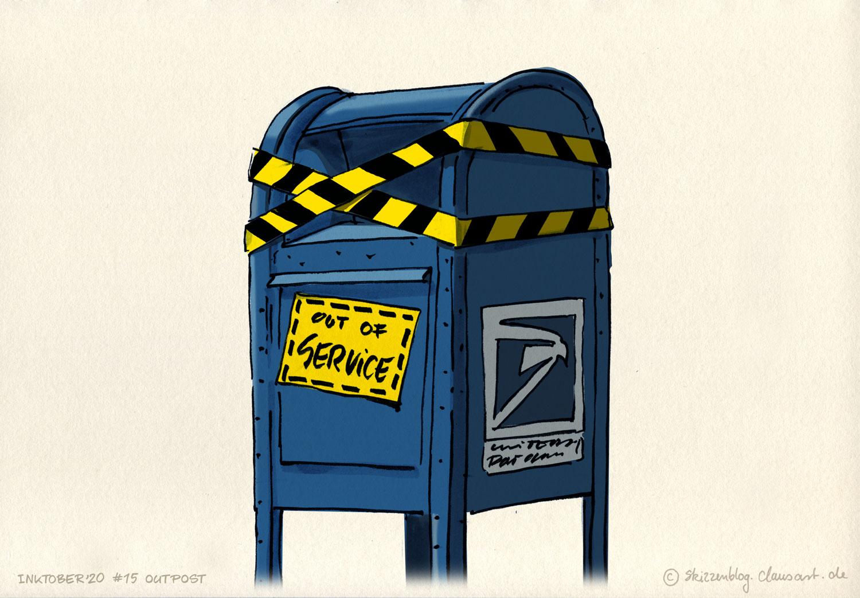 …aus die Post.