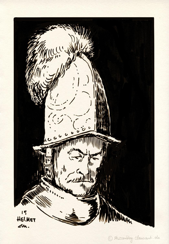 Der Mann mit dem Goldhelm, wahrscheinlich Rembrandt 1650-55